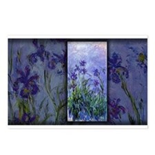 Monet Painting, Lilac Irises, Postcards (Package o