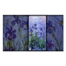 Monet Painting, Lilac Irises, Decal