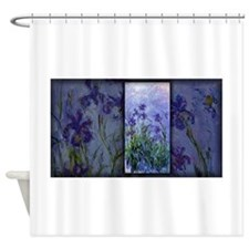Monet Painting, Lilac Irises, Shower Curtain