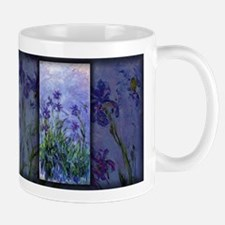 Monet Painting, Lilac Irises, Mug