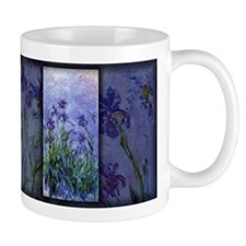 Monet Painting, Lilac Irises, Small Mug