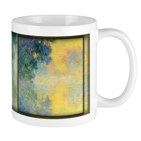 Misty Morning on the Seine, Sunrise, Monet, Mug