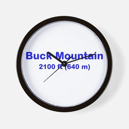 Buck Mountain Wall Clock