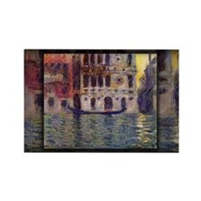 Monet Painting, Palazzo Dario 3, Rectangle Magnet