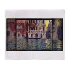 Monet Painting, Palazzo Dario 3, Throw Blanket