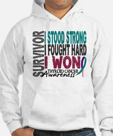 Survivor 4 Thyroid Cancer Shirts and Gifts Hoodie