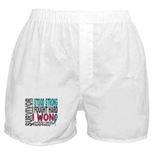 Survivor 4 Thyroid Cancer Shirts and Gifts Boxer S