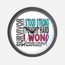 Survivor 4 Thyroid Cancer Shirts and Gifts Wall Cl
