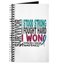 Survivor 4 Thyroid Cancer Shirts and Gifts Journal