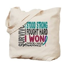 Survivor 4 Thyroid Cancer Shirts and Gifts Tote Ba