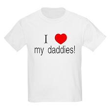 I <3 my daddies Kids T-Shirt