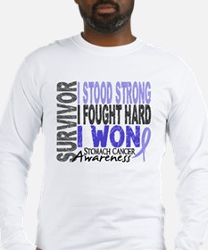Survivor 4 Stomach Cancer Shirts and Gifts Long Sl