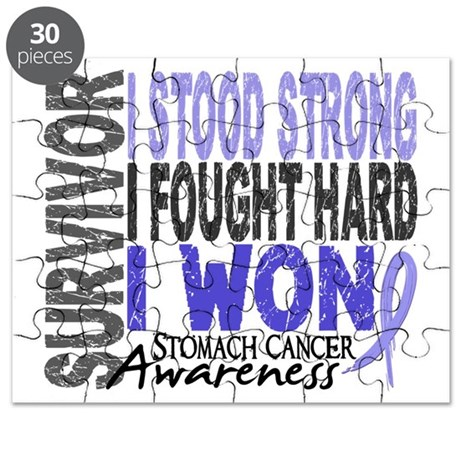 Survivor 4 Stomach Cancer Shirts and Gifts Puzzle
