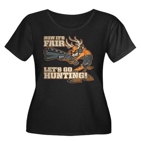 Now It's Fair, Let's Go Hunting! Women's Plus Size