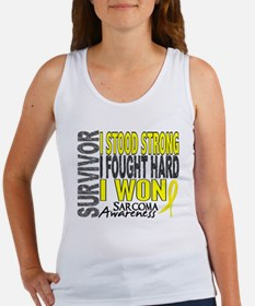 Survivor 4 Sarcoma Shirts and Gifts Women's Tank T