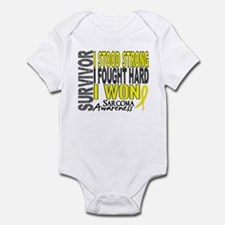 Survivor 4 Sarcoma Shirts and Gifts Infant Bodysui