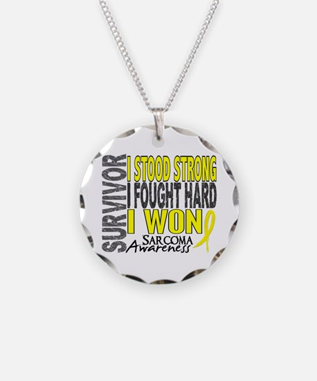Survivor 4 Sarcoma Shirts and Gifts Necklace