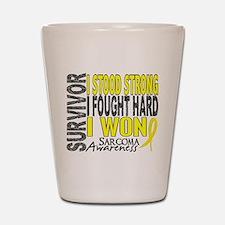 Survivor 4 Sarcoma Shirts and Gifts Shot Glass