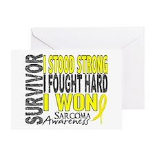 Survivor 4 Sarcoma Shirts and Gifts Greeting Card