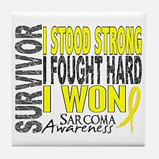 Survivor 4 Sarcoma Shirts and Gifts Tile Coaster