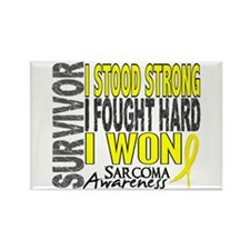 Survivor 4 Sarcoma Shirts and Gifts Rectangle Magn