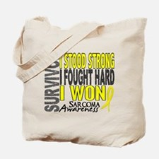 Survivor 4 Sarcoma Shirts and Gifts Tote Bag
