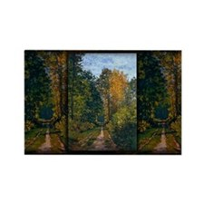Monet Painting, Path in the Forest, Rectangle Magn
