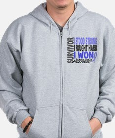 Survivor 4 Prostate Cancer Shirts and Gifts Zip Hoodie