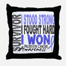 Survivor 4 Prostate Cancer Shirts and Gifts Throw