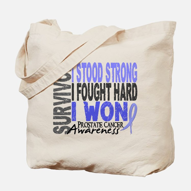 Survivor 4 Prostate Cancer Shirts and Gifts Tote B