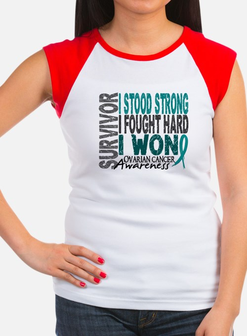 Survivor 4 Ovarian Cancer Shirts and Gifts Women's