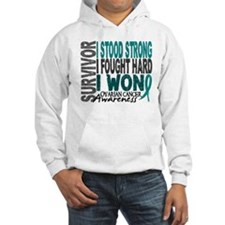 Survivor 4 Ovarian Cancer Shirts and Gifts Hoodie