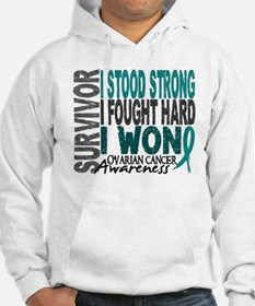 Survivor 4 Ovarian Cancer Shirts and Gifts Jumper Hoodie