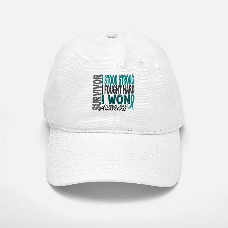 Survivor 4 Ovarian Cancer Shirts and Gifts Baseball Baseball Cap