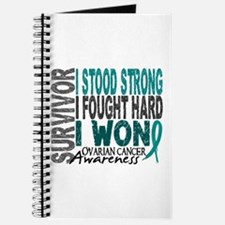 Survivor 4 Ovarian Cancer Shirts and Gifts Journal