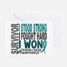 Survivor 4 Ovarian Cancer Shirts and Gifts Greetin