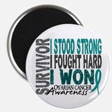 """Survivor 4 Ovarian Cancer Shirts and Gifts 2.25"""" M"""