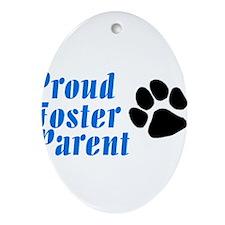 Proud Foster Parent Oval Ornament
