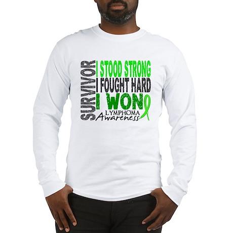 Survivor 4 Lymphoma Shirts and Gifts Long Sleeve T