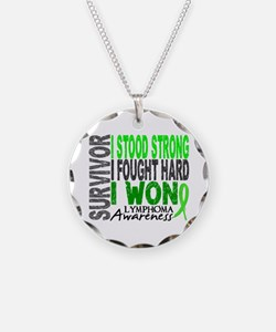 Survivor 4 Lymphoma Shirts and Gifts Necklace