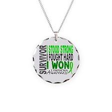 Survivor 4 Lymphoma Shirts and Gifts Necklace Circ