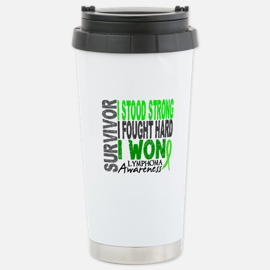 Survivor 4 Lymphoma Shirts and Gifts Stainless Ste