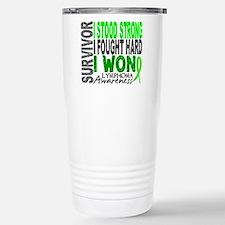 Survivor 4 Lymphoma Shirts and Gifts Travel Mug