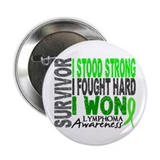"Survivor 4 Lymphoma Shirts and Gifts 2.25"" Button"