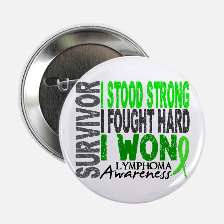"""Survivor 4 Lymphoma Shirts and Gifts 2.25"""" Button"""