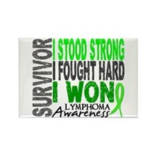Survivor 4 Lymphoma Shirts and Gifts Rectangle Mag