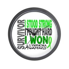 Survivor 4 Lymphoma Shirts and Gifts Wall Clock