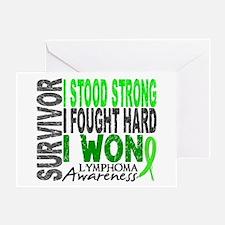 Survivor 4 Lymphoma Shirts and Gifts Greeting Card