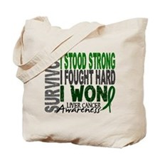 Survivor 4 Liver Cancer Shirts and Gifts Tote Bag