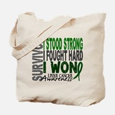 Survivor 4 Liver Cancer Shirts and Gifts Tote Bag